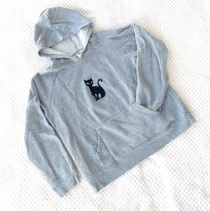 Old Navy gray hoodie with black cat detail
